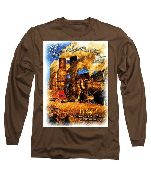 Louisiana Sugar Cane Poster 2012 Long Sleeve T-Shirt by Ronald Olivier