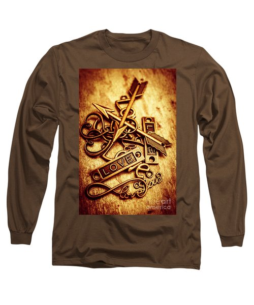 Love Charms In Romantic Signs And Symbols Long Sleeve T-Shirt