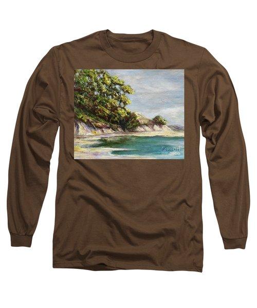 Low Tide Beach Long Sleeve T-Shirt by Danuta Bennett