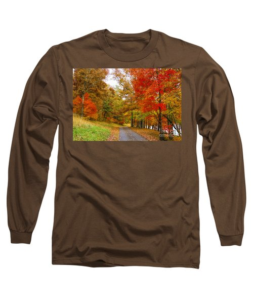 Lower Lake Loop Trail Long Sleeve T-Shirt by Barbara Bowen