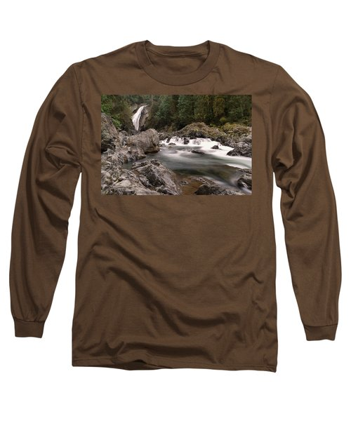 Long Sleeve T-Shirt featuring the photograph Lower Twin Falls by Jeff Swan