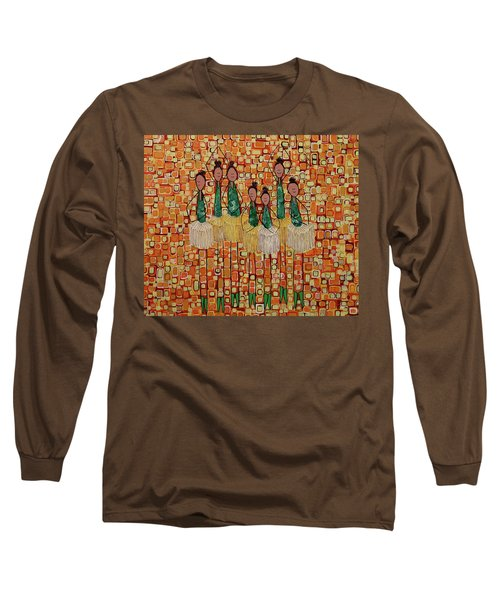 Long Sleeve T-Shirt featuring the painting Lucky Seven by Donna Howard