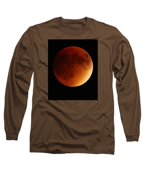 Long Sleeve T-Shirt featuring the photograph Lunar Eclipse 1 by Coby Cooper