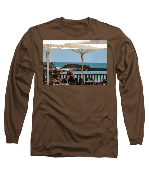 Long Sleeve T-Shirt featuring the photograph Lunch At The Mediterranean by Mae Wertz