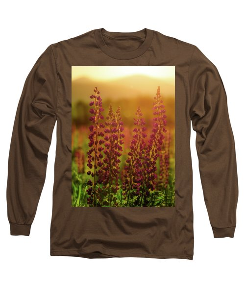 Lupines At Dawn Long Sleeve T-Shirt