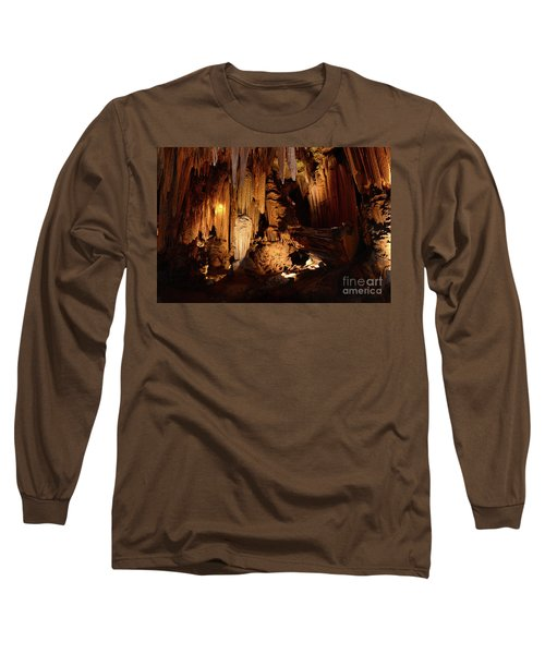 Long Sleeve T-Shirt featuring the photograph Luray Dark Caverns by Paul Ward