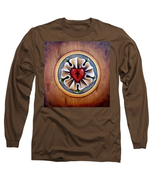 Luther's Rose - Natural Long Sleeve T-Shirt