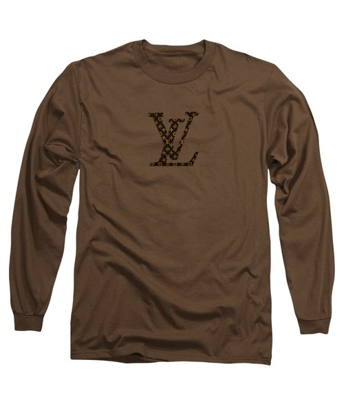 Lv Pattern Long Sleeve T-Shirt
