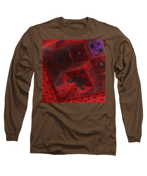 Long Sleeve T-Shirt featuring the digital art M Cubed by Lyle Hatch