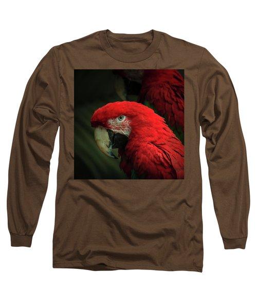 Macaw Portrait Long Sleeve T-Shirt by Joni Eskridge