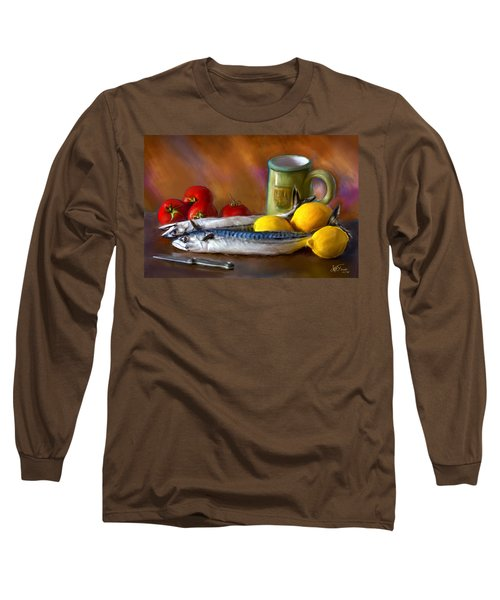 Mackerels, Lemons And Tomatoes Long Sleeve T-Shirt