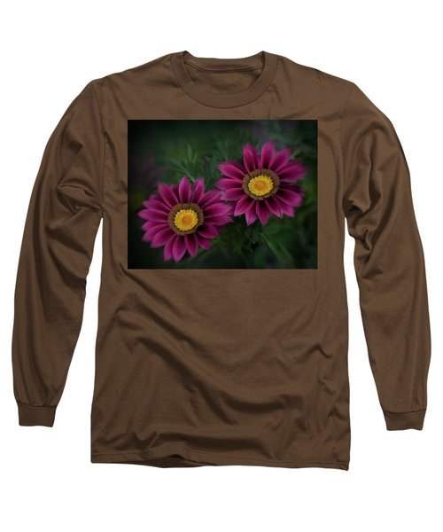 Long Sleeve T-Shirt featuring the photograph Magenta African Daisies by David and Carol Kelly