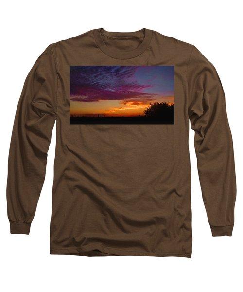 Magenta Morning Sky Long Sleeve T-Shirt