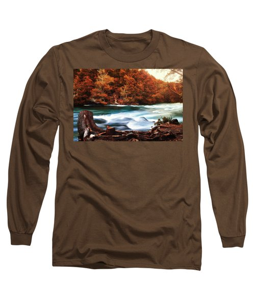 Autumnal Landscape With Lake In The Argentine Patagonia Long Sleeve T-Shirt