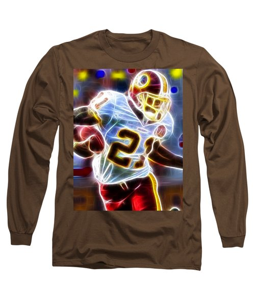 Long Sleeve T-Shirt featuring the painting Magical Sean Taylor by Paul Van Scott