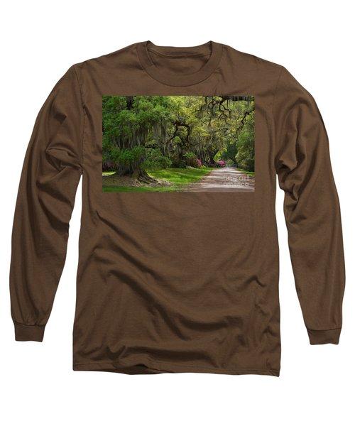 Magnolia Plantation And Gardens Long Sleeve T-Shirt by Kathy Baccari