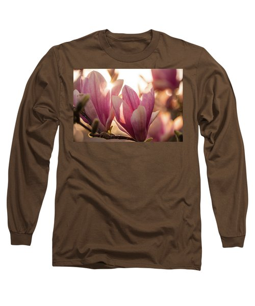 Magnolias At Sunset Long Sleeve T-Shirt