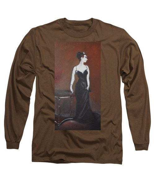 Long Sleeve T-Shirt featuring the painting Mah Lady by Gary Smith