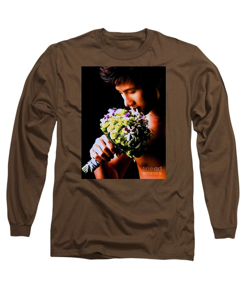 Male  Nude -  No.  190 Long Sleeve T-Shirt