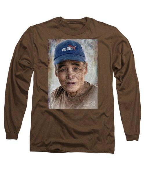 Man In The Cap Long Sleeve T-Shirt