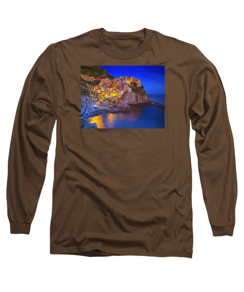 Manarola By Moonlight Long Sleeve T-Shirt