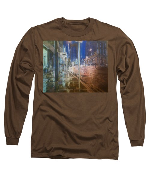 Manchester At Night Long Sleeve T-Shirt