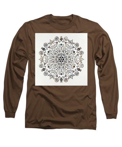 Mandala Earth And Water 2 Long Sleeve T-Shirt