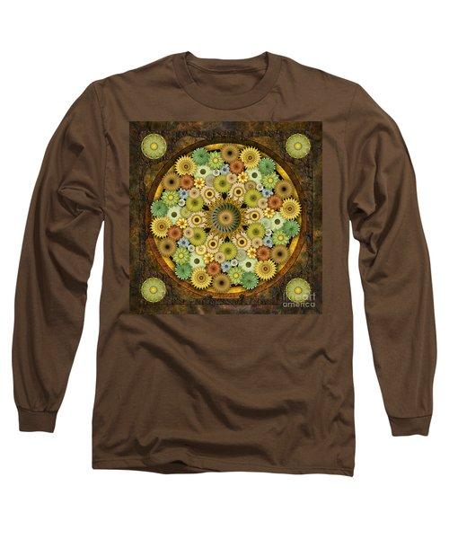 Mandala Stone Flowers Long Sleeve T-Shirt
