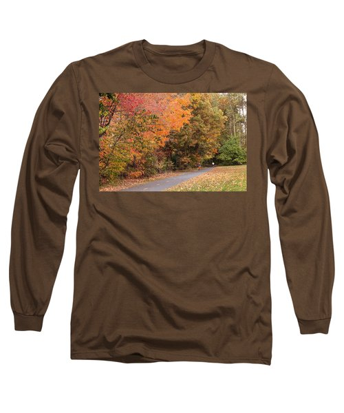Manhan Rail Trail Fall Colors Long Sleeve T-Shirt