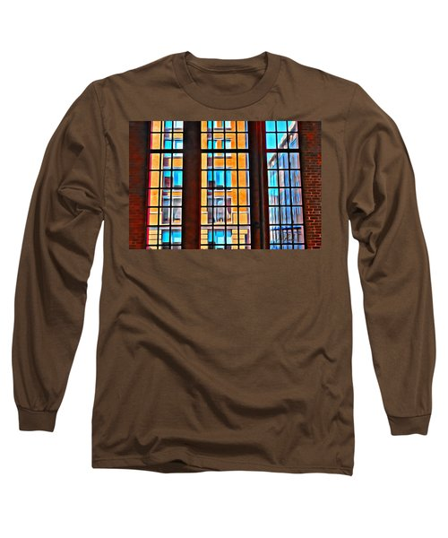 Manhattan Windows Long Sleeve T-Shirt by Joan Reese