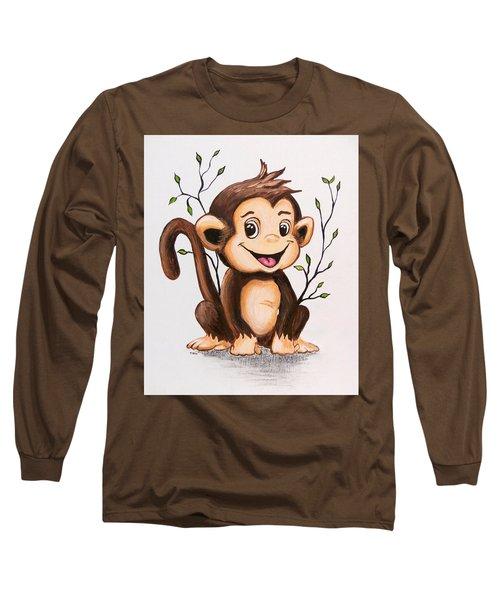Manny The Monkey Long Sleeve T-Shirt