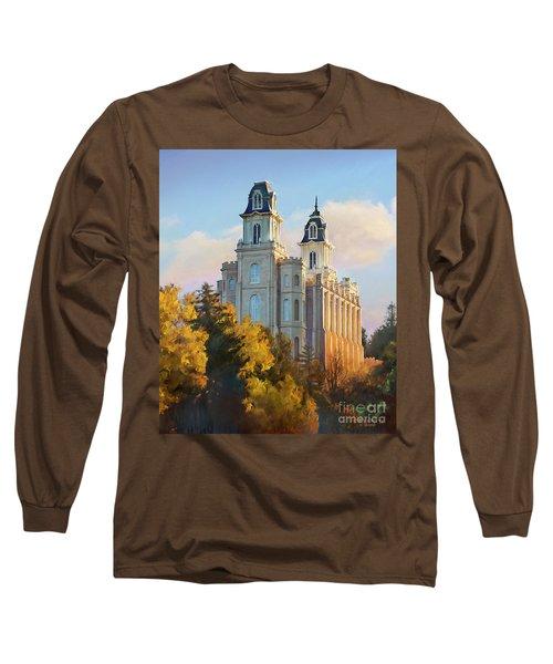 Manti Temple Tall Long Sleeve T-Shirt by Rob Corsetti