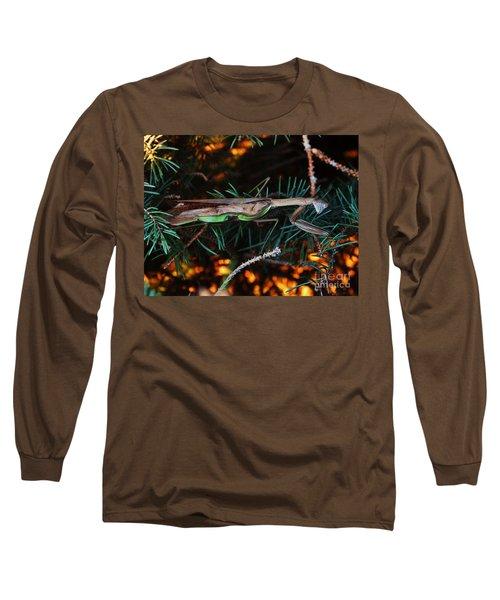 Mantis  Long Sleeve T-Shirt by J L Zarek