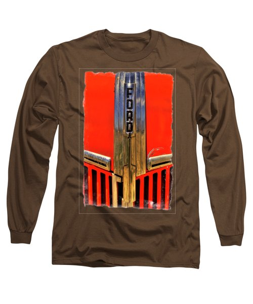 Manzanar Fire Truck Hood And Grill Detail Long Sleeve T-Shirt
