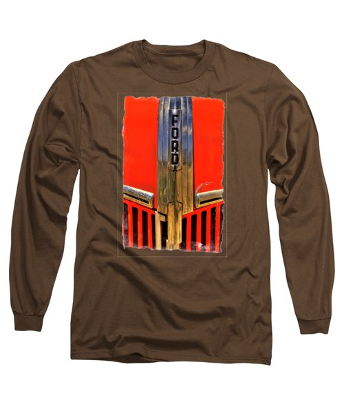 Manzanar Fire Truck Hood And Grill Detail Long Sleeve T-Shirt