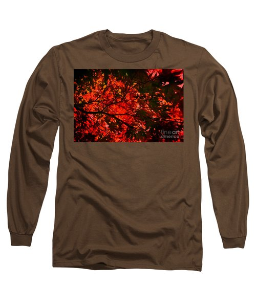 Long Sleeve T-Shirt featuring the photograph Maple Dance In Red by Paul Cammarata