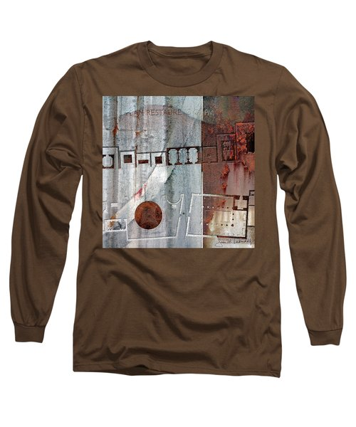 Maps #20 Long Sleeve T-Shirt by Joan Ladendorf
