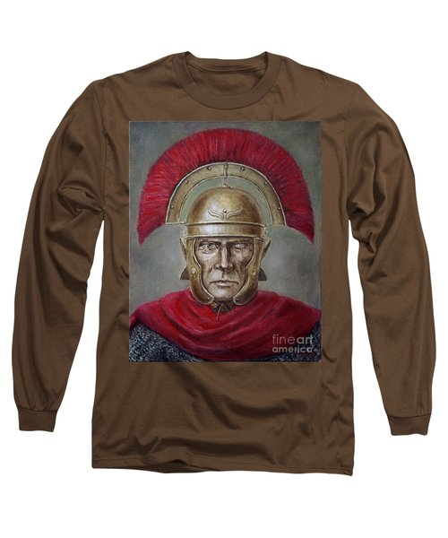 Marcus Cassius Scaeva Long Sleeve T-Shirt by Arturas Slapsys