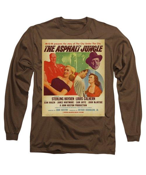 Marilyn Monroe In The Asphalt Jungle Movie Poster Long Sleeve T-Shirt