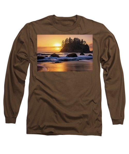 Marine Layer Sunset At Trinidad, California Long Sleeve T-Shirt