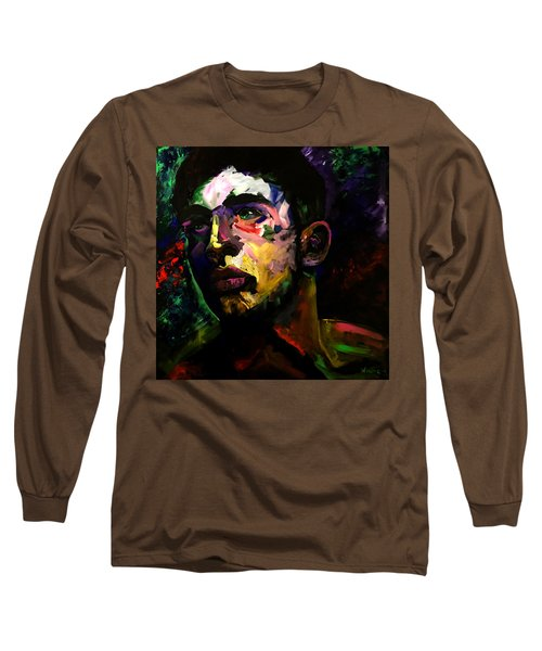 Long Sleeve T-Shirt featuring the painting Mark Webster Artist - Dave C. 0410 by Mark Webster Artist