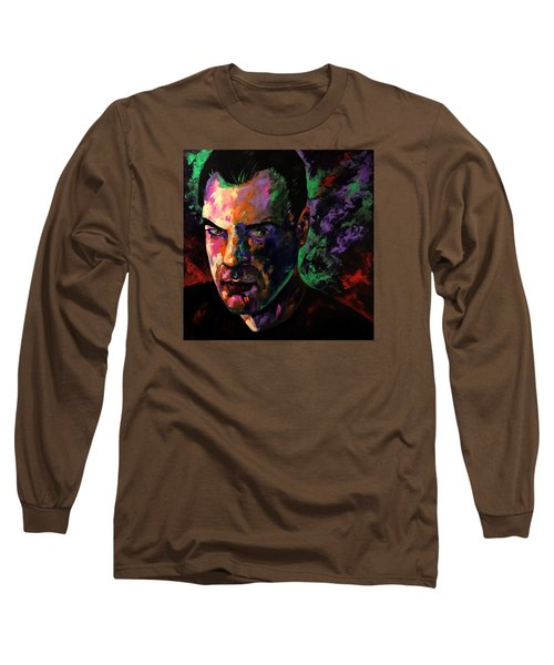 Long Sleeve T-Shirt featuring the painting Mark Webster Artist by Mark Webster