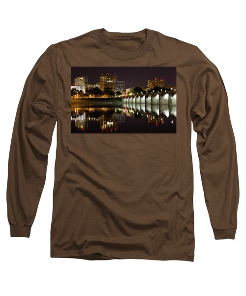Market Street Bridge Reflections Long Sleeve T-Shirt