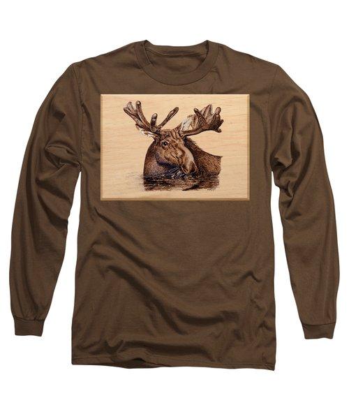 Marsh Moose Long Sleeve T-Shirt