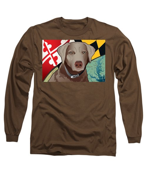 Maryland Silver Lab Long Sleeve T-Shirt