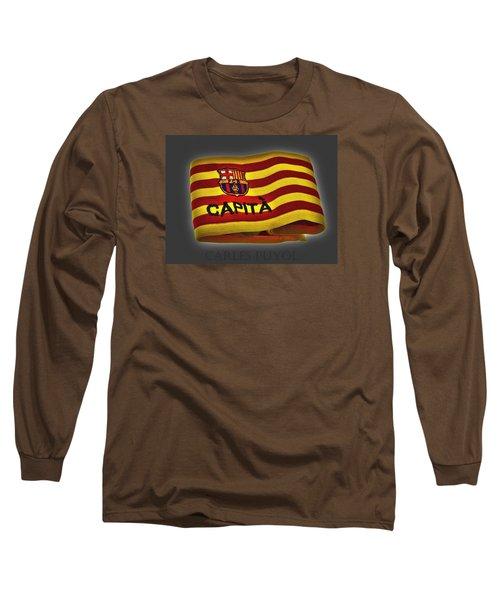 Long Sleeve T-Shirt featuring the photograph Mas Que Un Capitan - Carles Puyol by Juergen Weiss