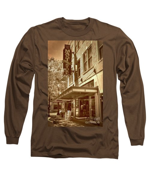 Long Sleeve T-Shirt featuring the photograph Mast General Store by Skip Willits