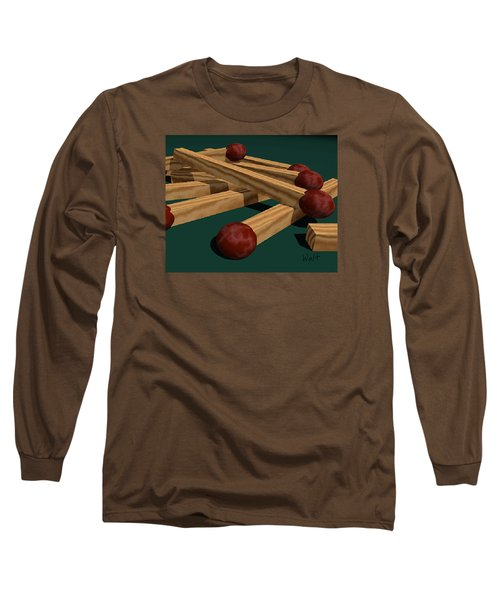 Long Sleeve T-Shirt featuring the digital art Matches by Walter Chamberlain