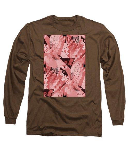 Mauve Melange Long Sleeve T-Shirt