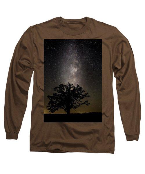 Mcbaine Bur Oak With Milky Way Long Sleeve T-Shirt